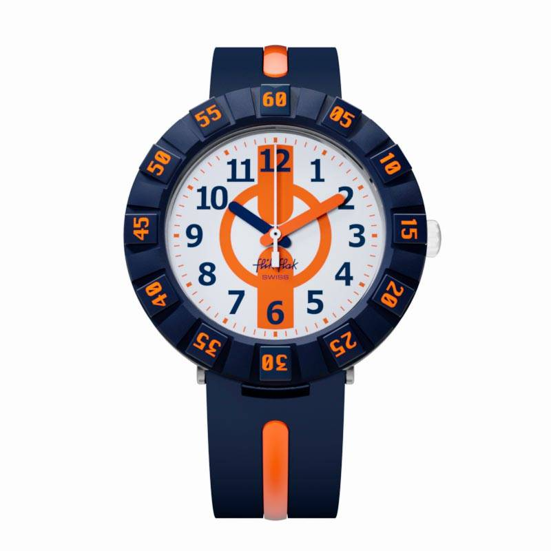 Montre Flik-Flak ORANGE AHEAD (ZFCSP078) pour GARCON
