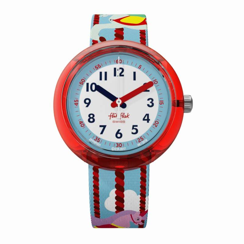 Montre Flik-Flak MARY GO AROUND (ZFPNP031) pour FILLE